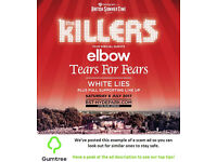 The Killers - Barclaycard British Summer Time - Saturday -- Read the ad description before replying!
