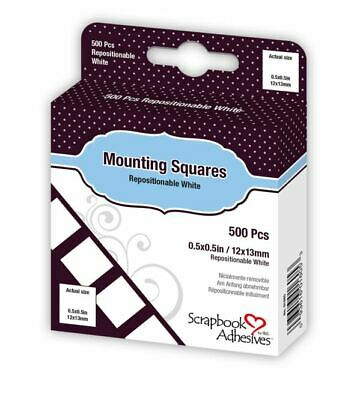 Scrapbook Adhesives MOUNTING SQUARES ~ Initially Repositionable ~500ct.~ 01605
