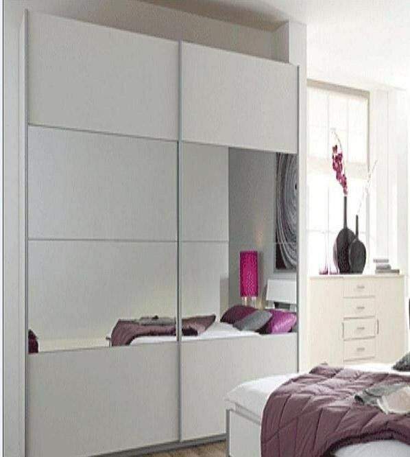 Ikea Pax Large Wardrobe White 150x60x201cm Sliding Doors