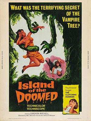 Island Of The Doomed - Isla De La Muerte, La (1967) Horror Movie Poster 24x32