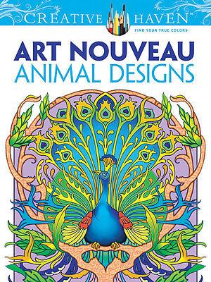 Creative Haven Art Nouveau Animal Designs Adult Coloring Book