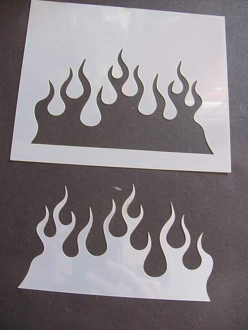 Flames Reusable Airbrush Mylar Stencil & Template durable  Made in USA L110**
