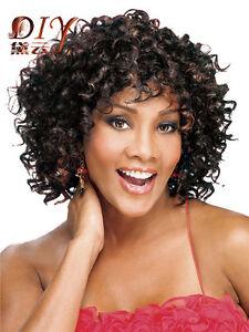 Women's Glueless Deep Curly Wig for African American Hair Short Fashion Hair Hot