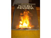 Hardback book-Incredible Phenomena, The Unexplained File, Introduction by Brian Inglis