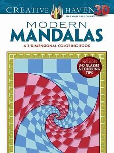Creative Haven 3-D Modern Mandalas Coloring Book by Randall McVey (Paperback,...