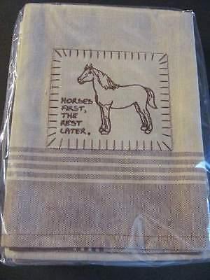 Dunroven House Gourmet Kitchen Towel Appliqued Tea Towel Horse