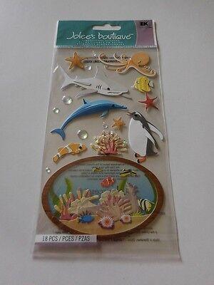 Scrapbooking Crafts Stickers Jolees Aquarium Sea Life Shark Dolphin Octopus Fish](Shark Craft)