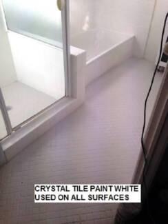 CERAMIC TILE PAINT 2 X  1 LITRE WHITE, CHARCAOL PASTEL COLOURS
