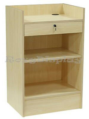 Maple Cash Register Stand Top Shelf Display Store Fixture Knocked Down Scr-cm