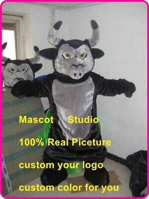 Bull Mascot Costume Cosplay Party Game Dress Outfit Advertising Halloween Adult