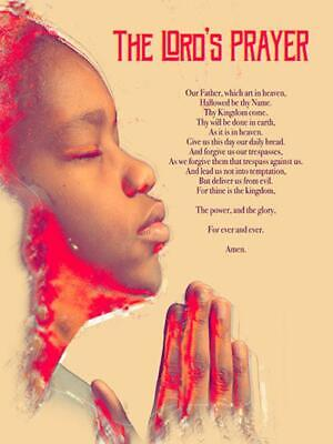 The Lord's Prayer Poster Boys Wall Christian Prayer God African American (18x24) for sale  Shipping to Nigeria