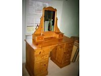 Pine Dressing Table/Chest of Drawers ... Vintage French