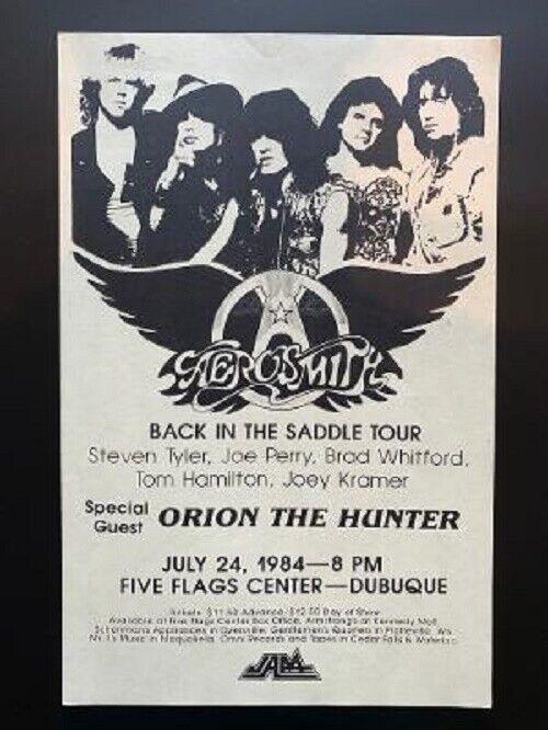 Aerosmith Concert Poster 1984 Reunion Dubuque Beige Variation