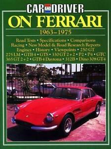 Car and Driver on Ferrari 1963 - 1975 by R.M Clarke 9780946489947 Blacktown Blacktown Area Preview