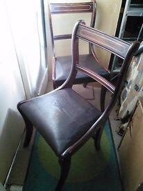 2 x Dark Burgundy Dining Chairs