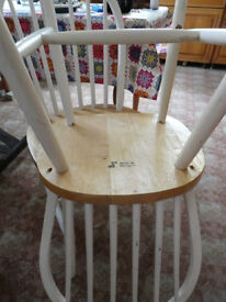 Project 3 x Shabby Chic Chairs Dining Set White Vintage Style