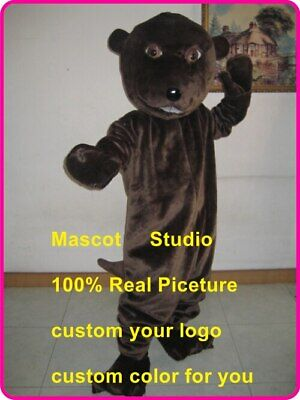 Beaver Mascot Costume Suit Cosplay Party Game Dress Outfit Halloween Adult 2019](Adult Beaver Costume)