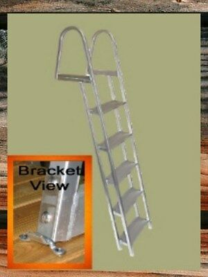 (5 - Step Boat Dock Deck Swim Raft Aluminum Ladder )