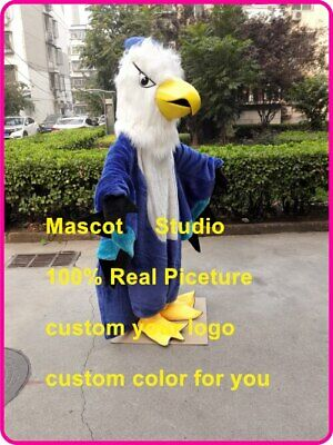 Blue Hawk Mascot Costume Suit Cosplay Party Game Dress Outfit Halloween Fancy us](Hawk Costume)