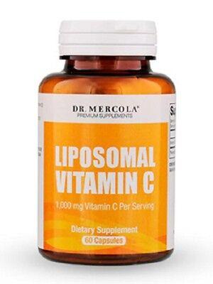 Dr. Mercola Liposomal Vitamin C 1000 mg - Higher Bioavailability - 60 Capsules