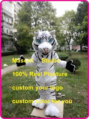 White Tiger Mascot Costume Suit Cosplay Party Fancy Dress Outfit Halloween Adult](Tiger Suit Halloween)