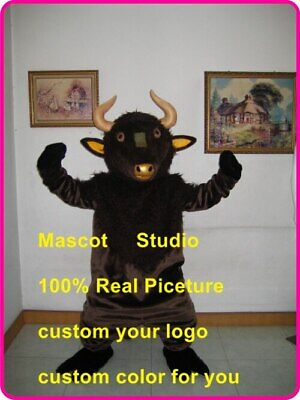 Bull Mascot Costume Cosplay Party Game Dress Outfit Advertising Halloween New