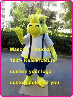 Yellow Rhino Mascot Costume Suit Cosplay Party Game Dress Outfit Halloween Adult](Rhino Costume)