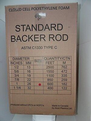 1 Closed Cell Foam Backer Rod - 600 Lf Free Shipping