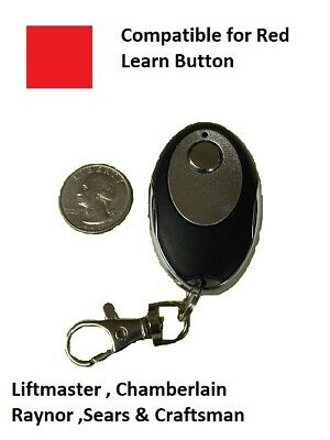 Chamberlain Garage Door Opener Remote Control Part Mini Red Learn Button