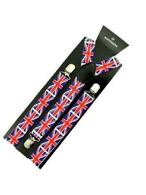 Union Jack Flagge Britisch Clip Hosenträger Erwachsene Wimbledon Kostüm