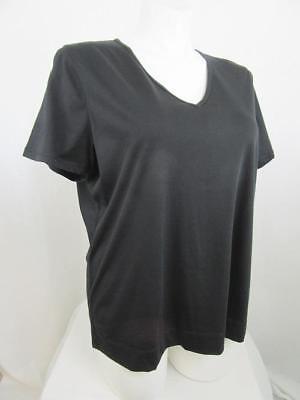 LRL Lauren Jeans Co by Ralph Lauren Size 1X Black Short Sleeve V-Neck Tee