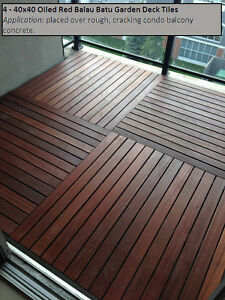 Condo balcony Tiles Hardwood - Easy Installation