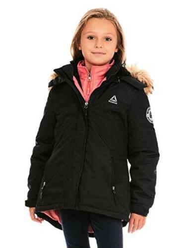 Reebok Girls Active Systems Jacket with Faux Fur