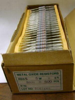 330 Ohm 5 5 Watt Metal Oxide Resistor - New