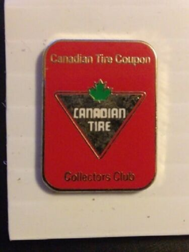 RARE ~ Canada Canadian Tire Coupon Money Collectors Red Lapel Hat Pin