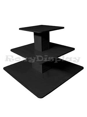 3tier Table Black Color Clothing Clothes Display Racks Stands 3tier48bk-rk
