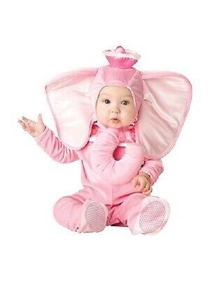 INCHARACTER PINK ELEPHANT TRUNK INFANT COSTUME HALLOWEEN CUTE BABY SIZE 16005 - Pink Elephant Baby Costume