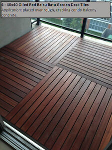 Condo Deck Tiles Exotic Hardwood - Easy Installation