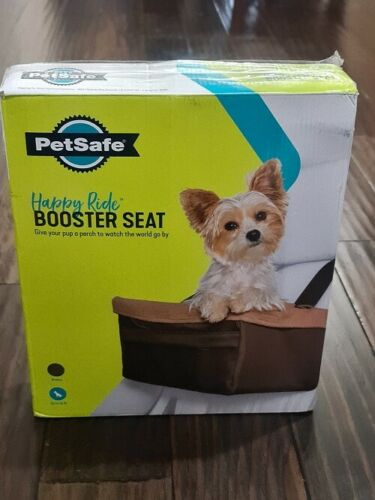 PetSafe Happy Ride Dog Cat Carrier Booster Car Seat Brown Up to 12lbs 12 Small