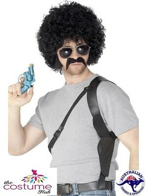 Mens Funny 70s Cop Sunglasses Black Wig gun Costume Kit](Funny Cop Costume)