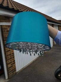 Teal color lampshade, excellent condition