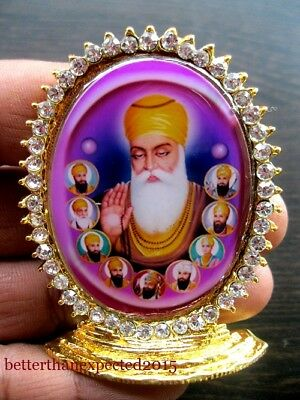 Guru Nanak Dev With All Ten Sikh Gurus Sikhism Car Dashboard Office Decor
