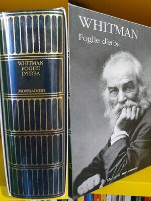 WHITMAN Walt, Foglie d'erba. I Meridiani Mondadori. 9788804683506. 2°Edizione