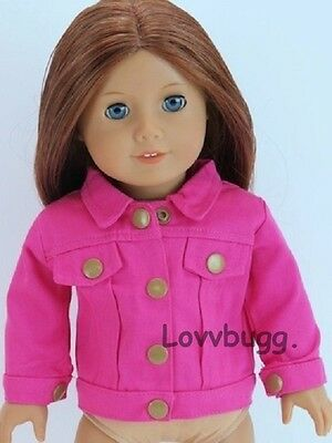 "Lovvbugg Hot Pink Denim Jacket for 18"" American Girl Doll Clothes"