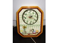 New- Decorative Ceramic Kitchen/Dining Room Wall Clock