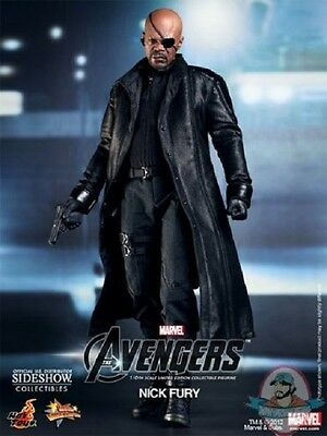 Nick Fury The Avengers Sixth Scale Figure by Hot Toys Used JC