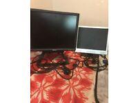 2 VGA Computer Monitors