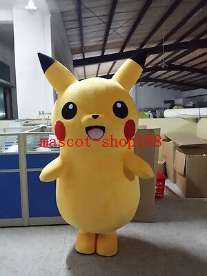 Yellow Pikachu Adult Mascot Costume fancy dress for advertising/party Cartoon - Pikachu Costumes For Adults