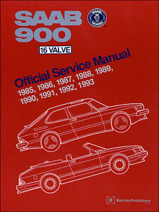 Saab 900 16 Valve Official Service Manual 85-93