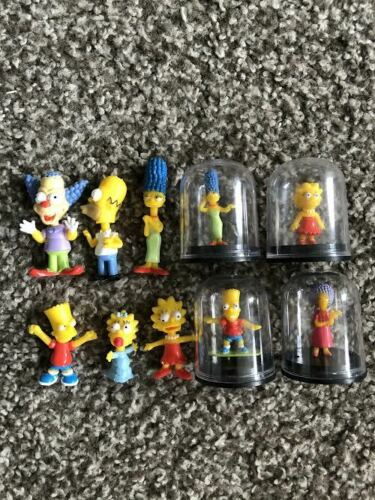 The Simpsons mini capsule toys lot of 10 figures and bobbleheads Bart Lisa Marge